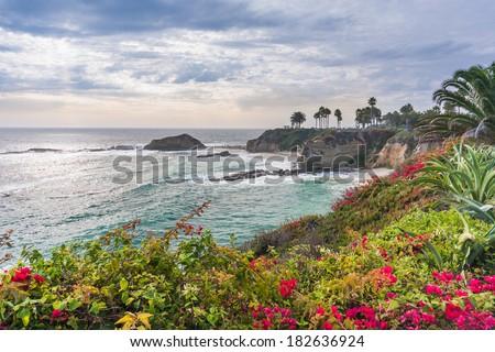 Beautiful park at Laguna Beach, California - stock photo