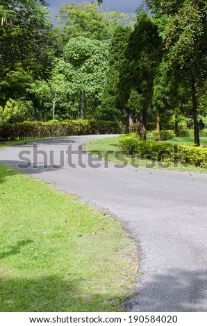 Beautiful park garden. - stock photo