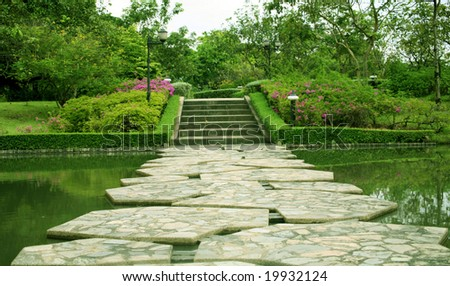 beautiful park in Thailand - stock photo