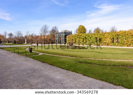 Beautiful park landscape at Schonbrunn Palace, Vienna, Austria - stock photo