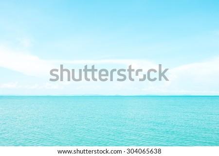 Beautiful pastel sea - stock photo