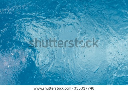 Beautiful pattern of blue water reflecting the sun. - stock photo