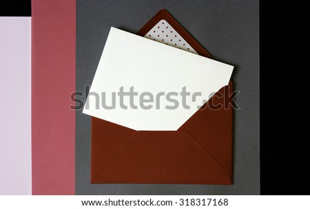 Beautiful patterned envelope with card