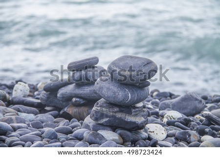 Beautiful pebble on island, Lipe, Andaman sea, Thailand