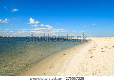 Beautiful Perdido Beach in Pensacola, Florida. - stock photo