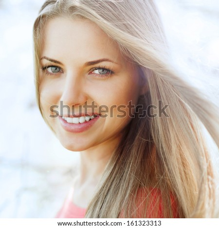 Beautiful perfect girl face portrait