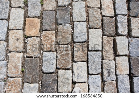 Beautiful photo of old natural stone pavement background - stock photo
