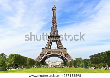 Beautiful photo of the Eiffel Tower - stock photo