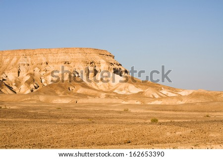 beautiful photos of dead sea cliffs. Israel - stock photo