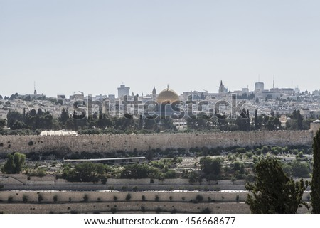 Beautiful picture of a Jerusalem old city in Israel