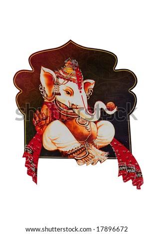 Beautiful picture of Ganesha an hindu god - stock photo