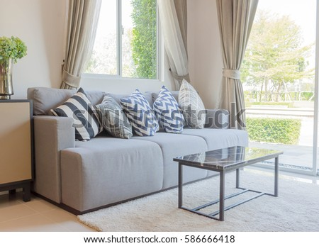 beautiful luxury pillow on sofa decoration stock photo 539619811 shutterstock. Black Bedroom Furniture Sets. Home Design Ideas