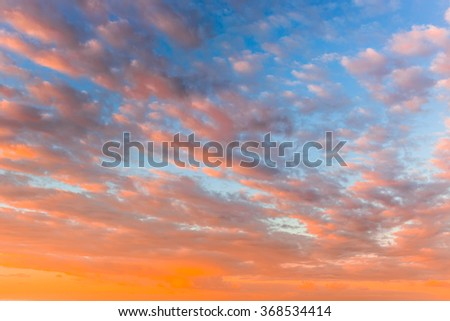 Beautiful Pink and Blue Sky