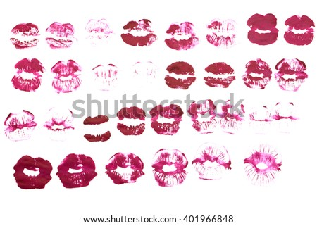 Beautiful pink lip gloss on a white background - stock photo