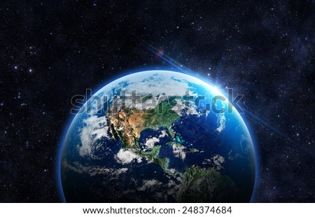 Beautiful Planet Earth -  Elements of this Image Furnished By NASA - stock photo