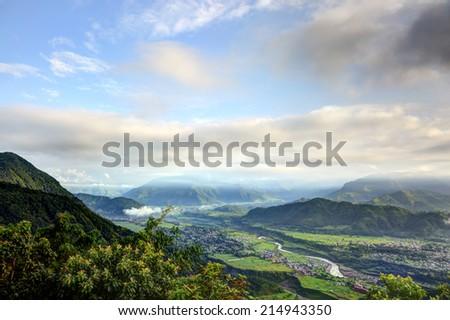 Beautiful pokhara valley - stock photo