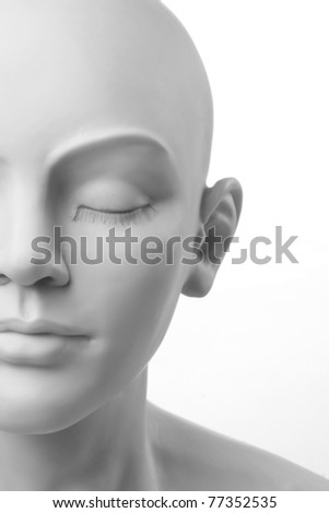 beautiful portrait of a female mannequin - stock photo