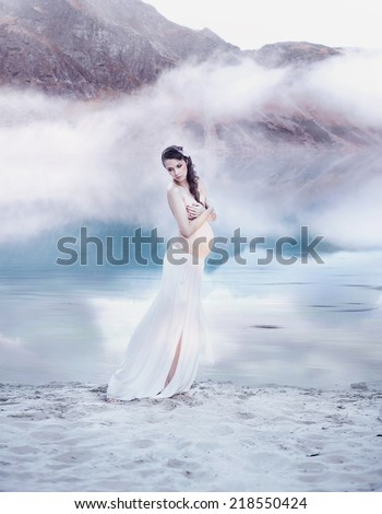 Beautiful pregnant women - stock photo