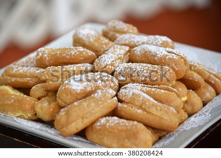 Beautiful presentation of gourmet and tasty desserts - stock photo