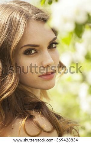 Beautiful purity, close up outdoor shot - stock photo