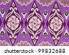 Beautiful purple batik patterns - stock photo
