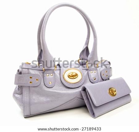 Beautiful purple fashion set - stock photo