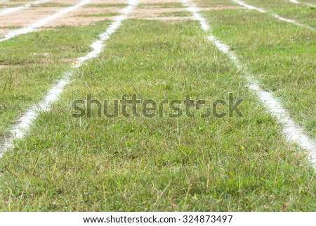 beautiful race track with white line for running sport, lifestyle