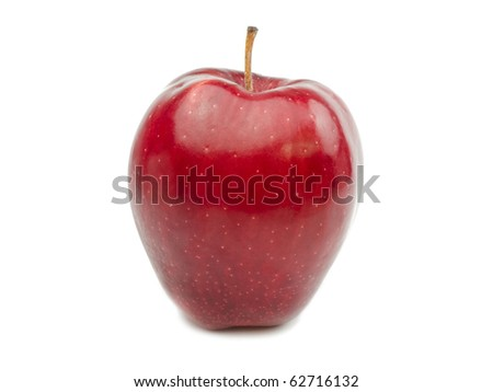 Beautiful Red Apple on white background