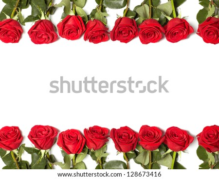 Beautiful Red Rose Flower Greeting Card Stock Photo (Edit ...