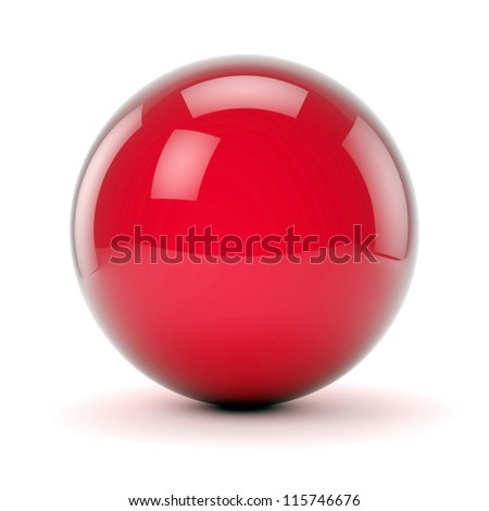 beautiful red sphere on a white background