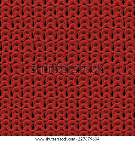 beautiful red texture of knitwear pattern - stock photo