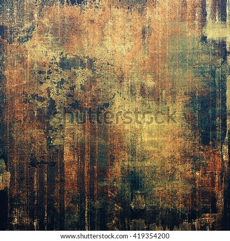 Beautiful retro background, nice looking ancient texture with different color patterns: yellow (beige); brown; green; gray; blue; black - stock photo