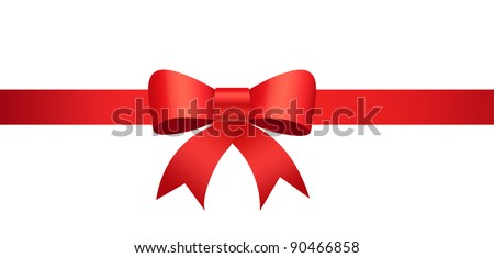 Beautiful ribbon on gift box. Perfect for promotional items, christmas & seasons greetings.