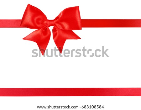 Beautiful ribbon on white background. Boxing Day concept
