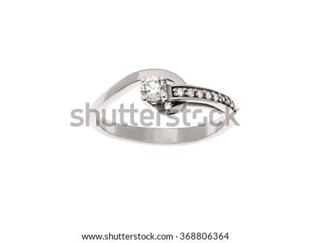 Beautiful ring isolated on white...