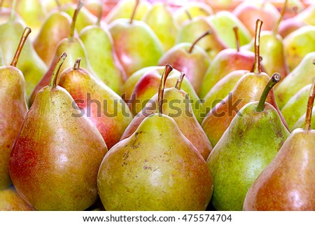 beautiful ripe fruit of pear as an element of food