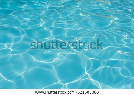 Beautiful ripple water in swimming pool