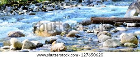 Beautiful river scenery - stock photo