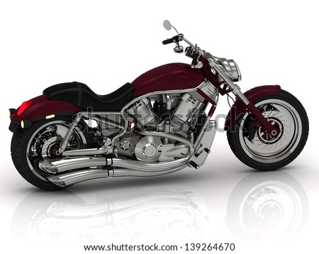 Beautiful road motorcycle on a white background - stock photo