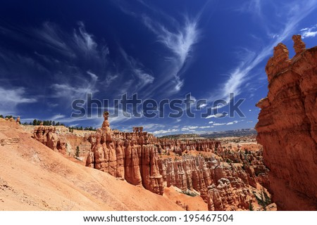 Beautiful rock formations at Bryce canyon, USA - stock photo