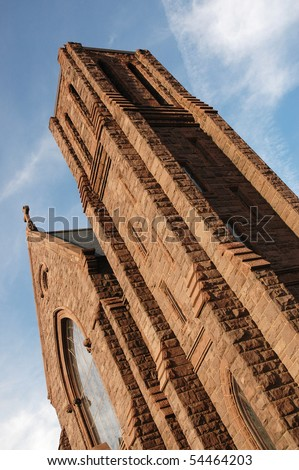 Beautiful Romanesque Revival church in Georgetown, Washington, DC. - stock photo