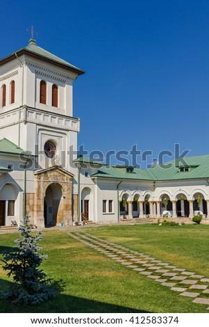 Beautiful romanian orthodox monastery close to Targoviste city and not so far from Bucharest, romanian capital - stock photo