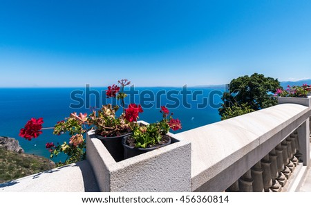 Beautiful romantic terrace with sea view. sicily