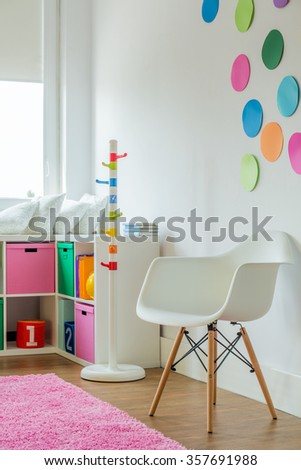Beautiful room for a girl in the house  - stock photo