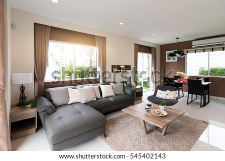 Beautiful room interior with hardwood floors and view of new luxury home. Interior Stock Images  Royalty Free Images   Vectors   Shutterstock