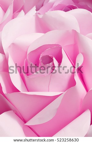 Beautiful rose background decoration from paper, artificial or imitation flower