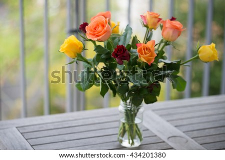 Beautiful roses in a vase