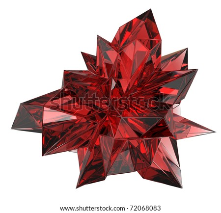 beautiful ruby crystal - stock photo
