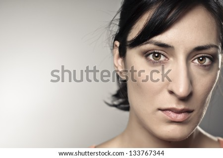 Beautiful, Sad Woman Portrait - stock photo