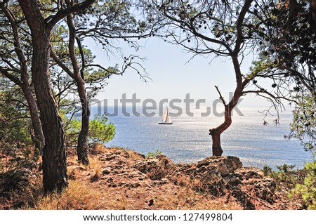 Beautiful Salento's coast in Apulia. Italy - stock photo